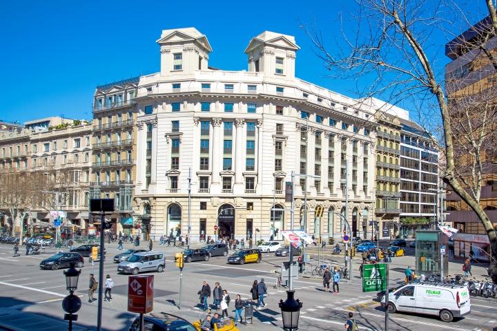 Passeig de Gracia street in Barcelona, Spain